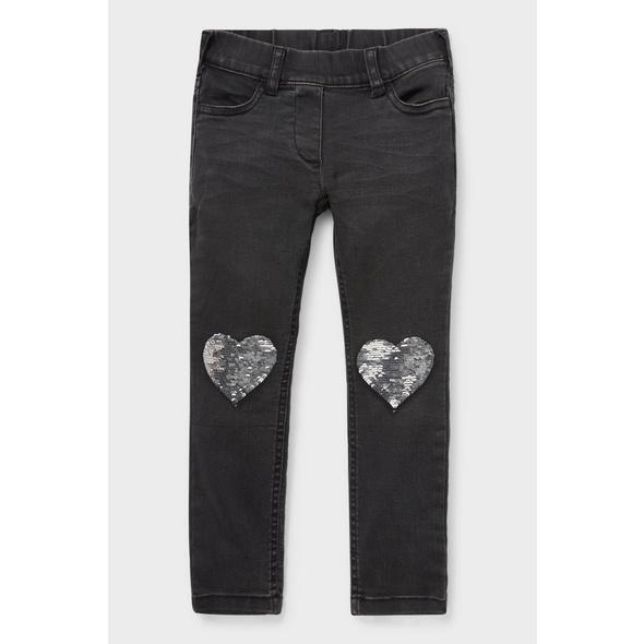 Super Skinny Jeans - recycelt - Glanz-Effekt